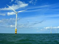 wind turbine on the sea
